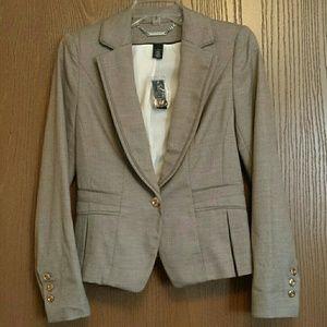 NWT White House Black Market ruffle blazer